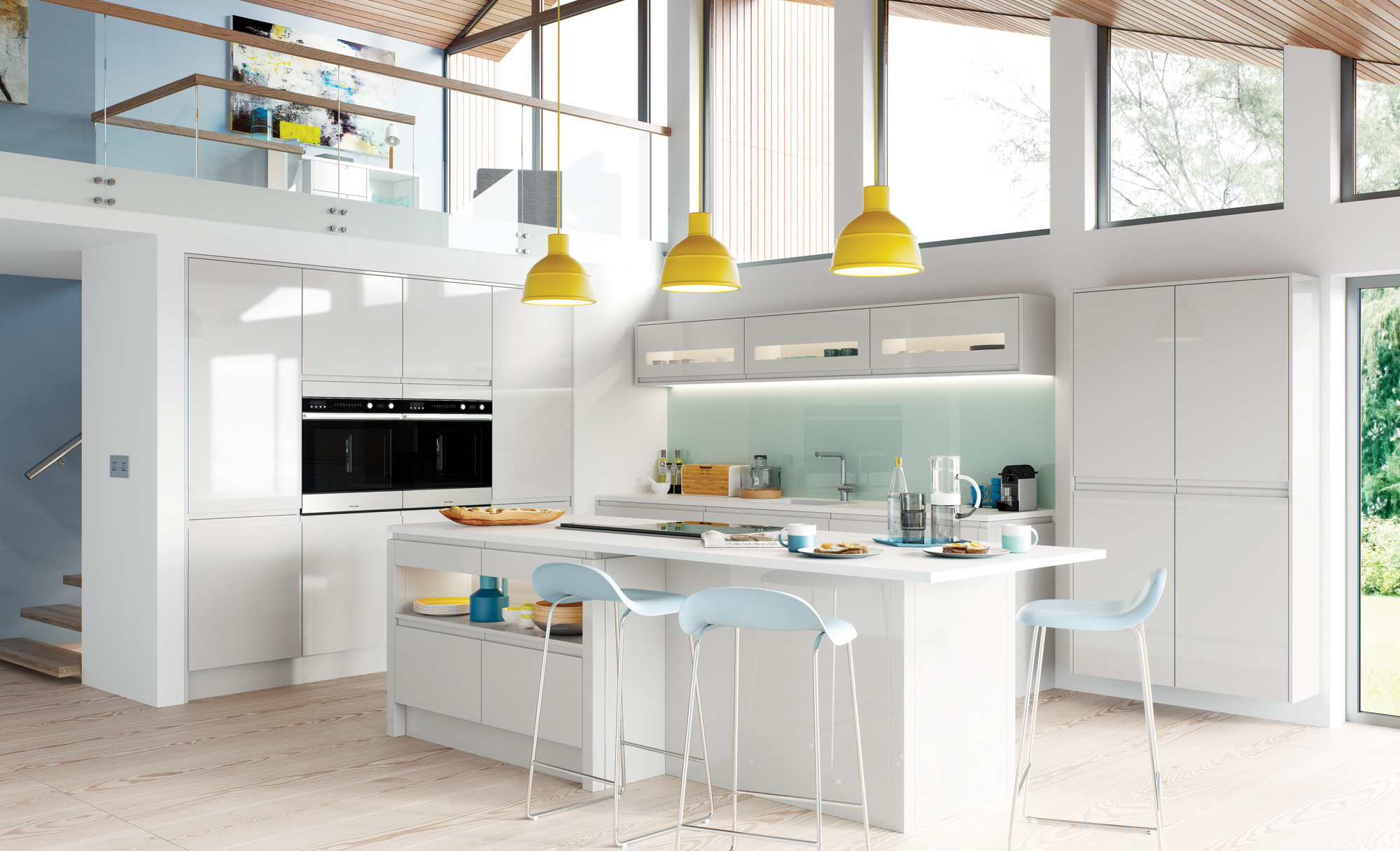 Gloss Light Grey Kitchen image