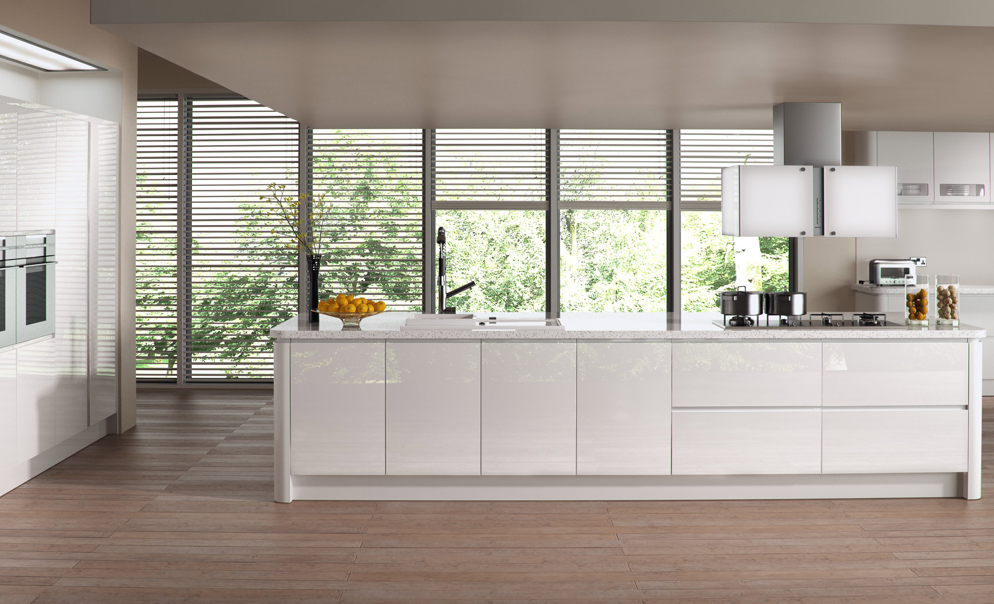 Gloss White Kitchen image